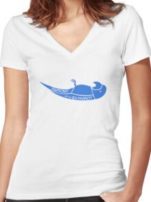 Anatomy of an Ex-Parrot Women's Fitted V-Neck T-Shirt