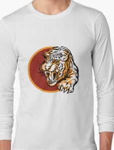 Roaring tiger logo design Long Sleeve T-Shirt