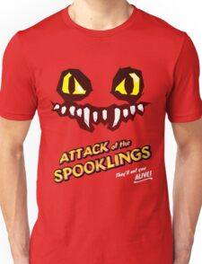 Attack of the Spooklings - B Movie Poster - Red Unisex T-Shirt
