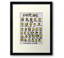 Emoticons Framed Print