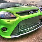 Green Ford Focus RS by CarlH2013