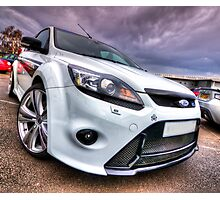 White Ford Focus RS Turbo Photographic Print
