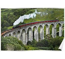 The Jacobite crossing Glenfinnan Viaduct Poster