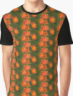 Red Maple Leaves Abstract Graphic T-Shirt