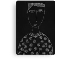 Man with Circular Patterned Top Portrait Canvas Print