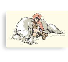Petite Rouge en le Loup  Canvas Print