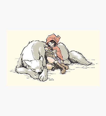 Petite Rouge en le Loup  Photographic Print