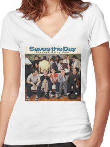 Saves the Day - Through Being Cool Women's Fitted V-Neck T-Shirt