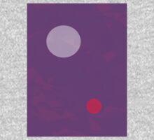 Minimalism Electric Purple Kids Tee