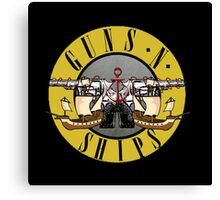 guns n ships Canvas Print