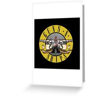 guns n ships Greeting Card