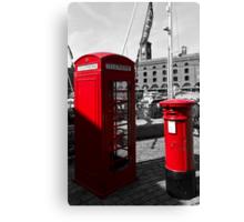 Post Box Phone box Canvas Print