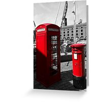 Post Box Phone box Greeting Card