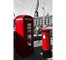 Post Box Phone box Photographic Print