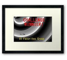 Challenge Winner Framed Print