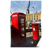 Post Box Phone box Poster