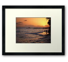 They all come to watch the sunset Framed Print