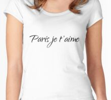 Paris je t'aime – I love you Women's Fitted Scoop T-Shirt