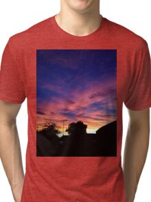 Sunset Photograph Design Tri-blend T-Shirt
