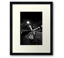 San Francisco, CA - Pier 7 Nightscape Framed Print