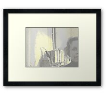 mute two Framed Print