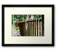 Cemetary Fence Framed Print