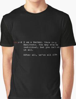 Hacker's Manifesto - The Mentor Graphic T-Shirt