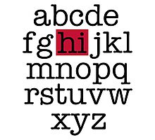 The Alphabet Photographic Print