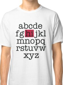 The Alphabet Classic T-Shirt
