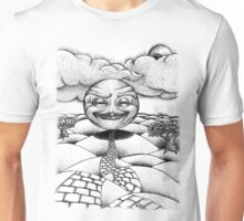 Beginning of the Road in pen Unisex T-Shirt