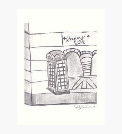 British Telephone Booth Art Print