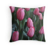 Field of Tulip Dreams Throw Pillow
