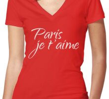Paris je t'aime – I love you Women's Fitted V-Neck T-Shirt