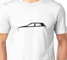 Silhouette Volkswagen VW Golf Mk4 Unisex T-Shirt