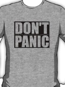 Don't Panic...Isaiah 41:10 (Black) T-Shirt