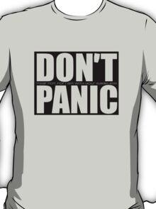 Don't Panic...Isaiah 41:10 (Black) T-Shirt