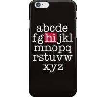 The Alphabet iPhone Case/Skin