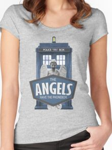 Inspired by The Doctor - Weeping Angels - The Angels Have the Phonebox - Don't Blink Women's Fitted Scoop T-Shirt