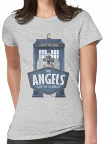 Inspired by The Doctor - Weeping Angels - The Angels Have the Phonebox - Don't Blink Womens Fitted T-Shirt
