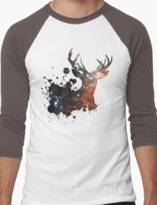 Space Stag Men's Baseball ¾ T-Shirt