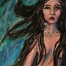 Avalon- Mermaid painting by Angela Morgane