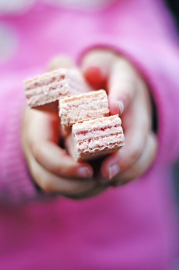 pink wafers ♥ by Gregoria  Gregoriou Crowe
