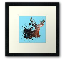Space Stag Framed Print
