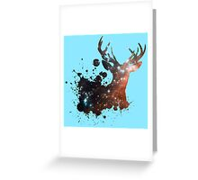 Space Stag Greeting Card