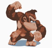 Minimalist Donkey Kong from Super Smash Bros. Brawl by Himehimine