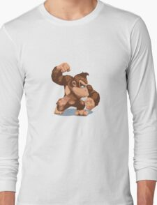 Minimalist Donkey Kong from Super Smash Bros. Brawl Long Sleeve T-Shirt