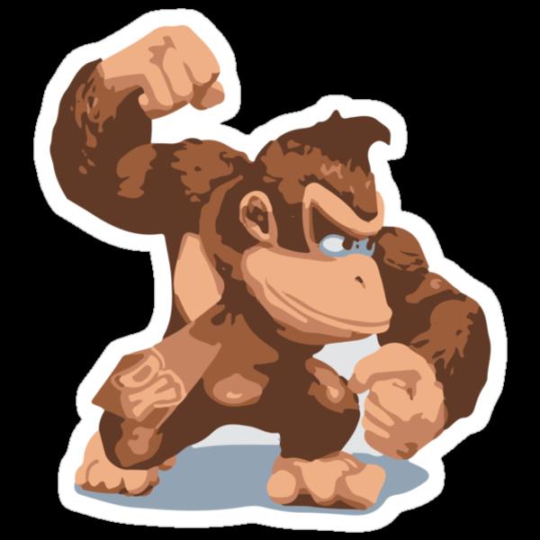 Minimalist Donkey Kong from Super Smash Bros. Brawl by Himehimine