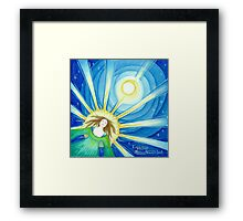 Expansion into higher consciousness Framed Print