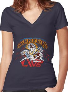 GENESIS LIVE Women's Fitted V-Neck T-Shirt