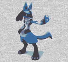 Minimalist Lucario from Super Smash Bros. Brawl Kids Clothes